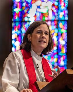 Dean penny bridges preaching at pulpit